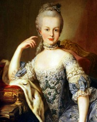 Archduchess Maria Antonia (2 November 1755- executed 16 October 1793)  From 1774 Queen Consort Marie Antoinette of France
