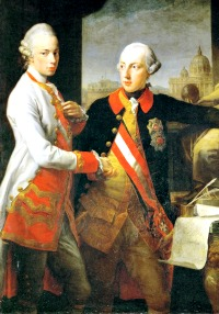 Grand Duke Leopold of Tuscany with his brother Emperor Joseph II in 1769