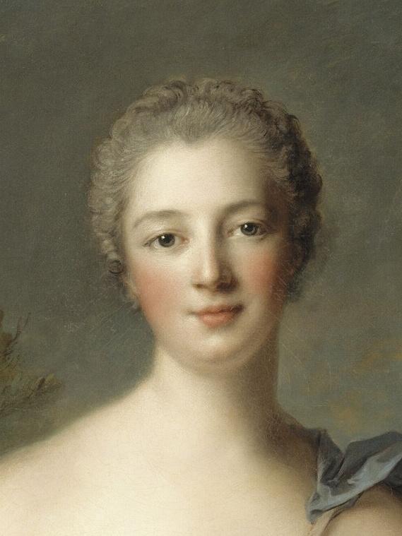 Madame de Pompadour (1722–1764), mistress of Louis XV, represented as Diana the Huntress, by Jean-Marc Nattier