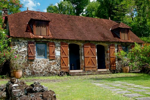 The kitchen of the Tascher de la Pagerie  plantation, bitrth place of Josephine de Beauharnais, holds the the La Pagerie Museum. The main house was destoyed in a hurricane in 1766.