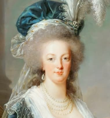 Marie Antoinette, painted by Le Brun in 1788