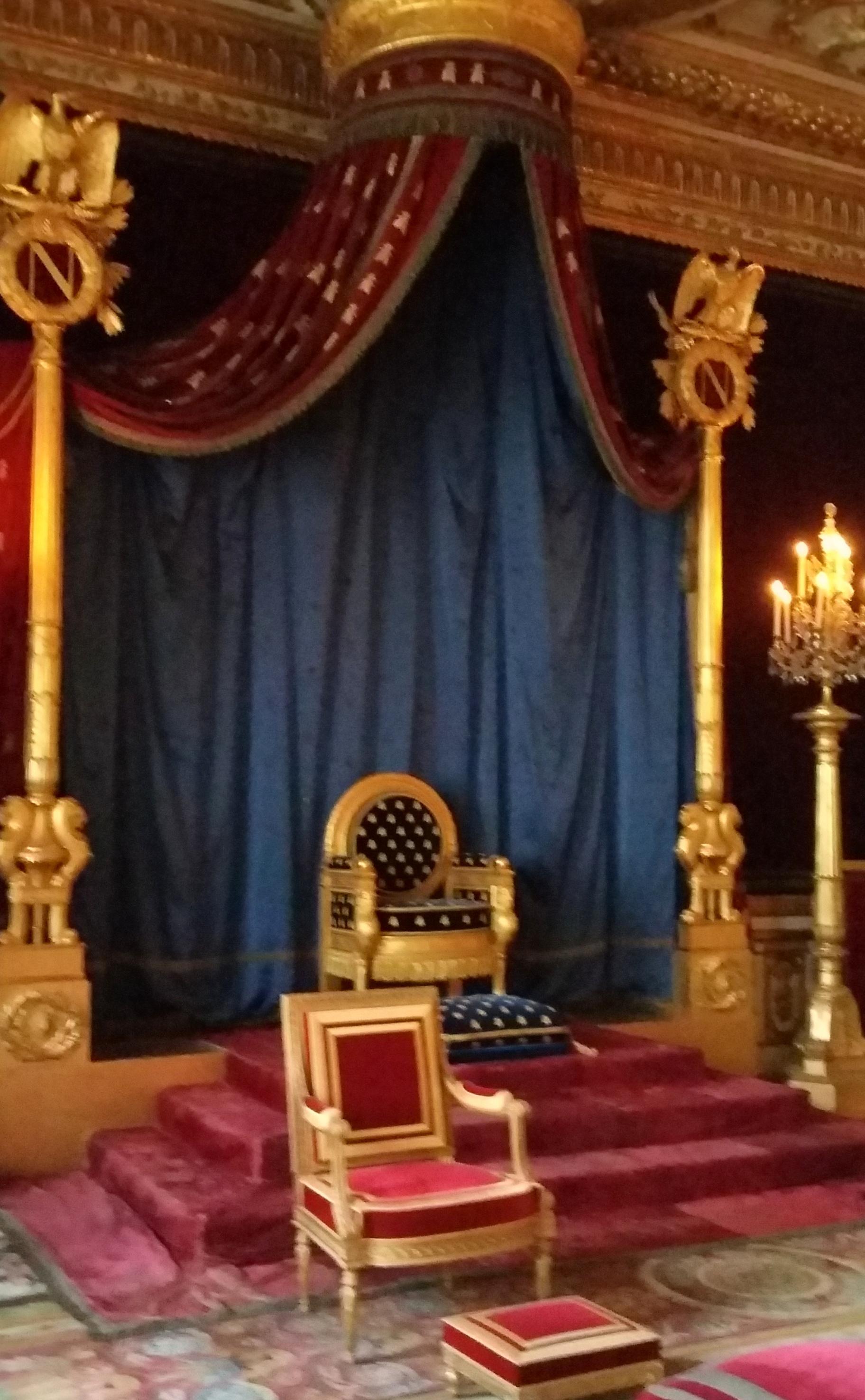 Throneroom of Napoleon, Fontainebleau