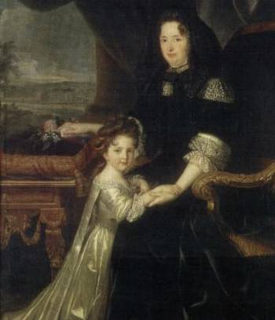 Mme de Maintenon with her nice and hier, Françoise Charlotte d'Aubigné,