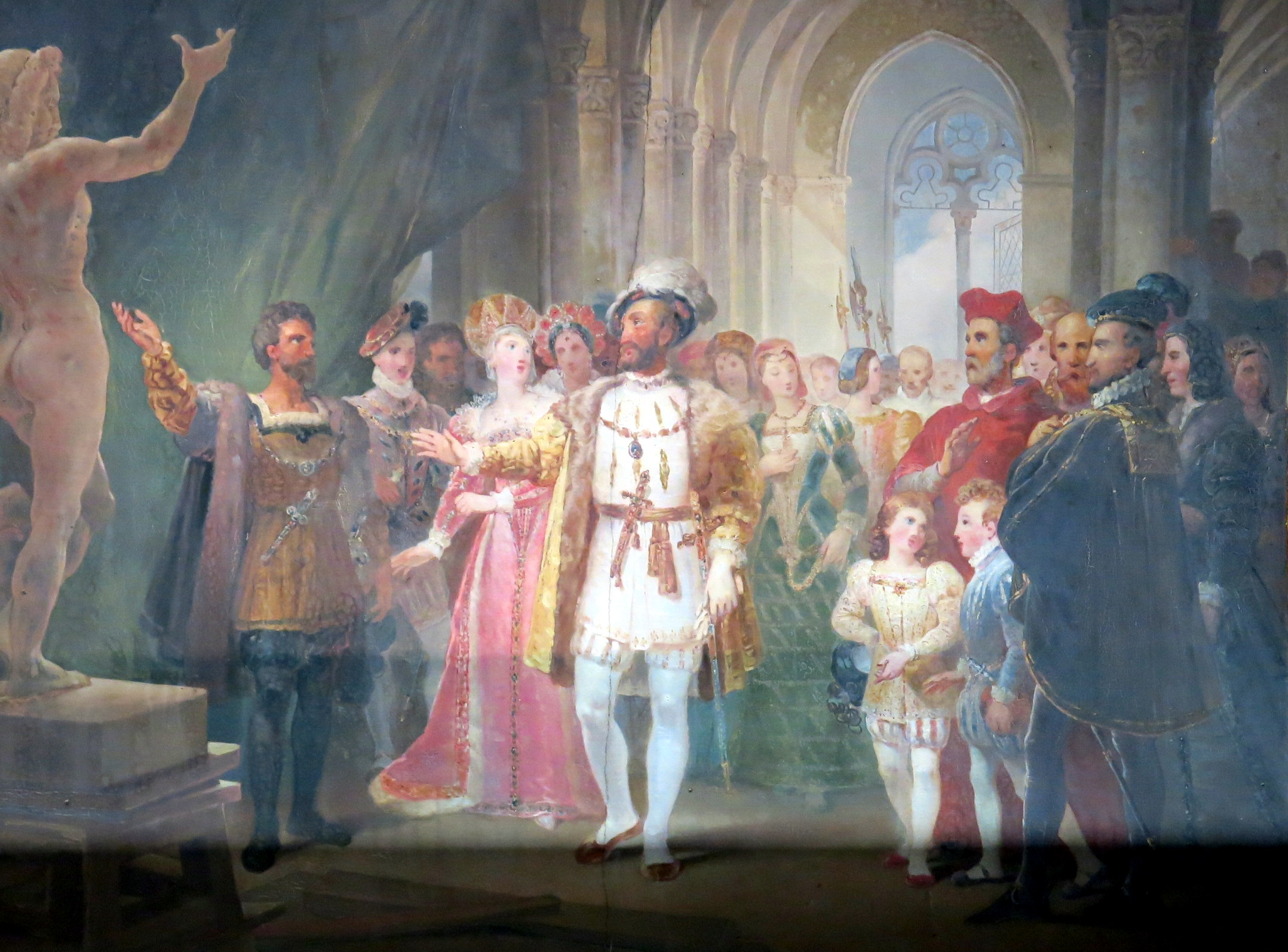 Francis I and his courtiers