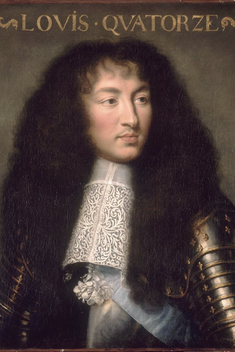 King Louis XIV at age 23, by Charles Le Brun (circa 1661-1662)