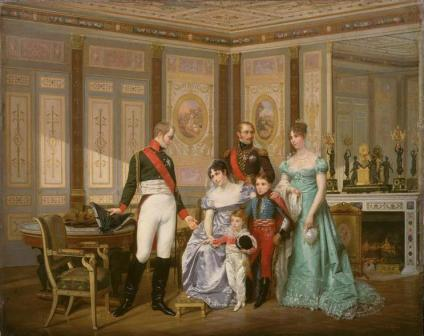 The visit of Tsar Alexander I to malmaison by Hector Viger.