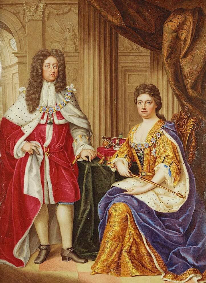 Queen Anne and Prince George, by Charles Boit 1706