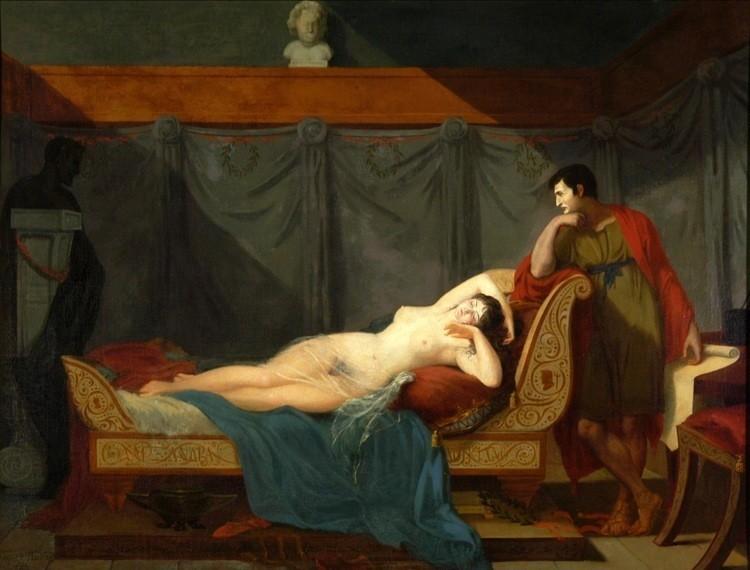 Double portrait of Lucien and Alexandrine Bonaparte. The painter, Guillaume Guillon Lethière called it