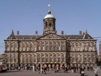 Royal Palace on dam Square, Amsterdam