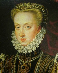 Anne of Austria, Queen of spain. By Alonso Sánchez Coello