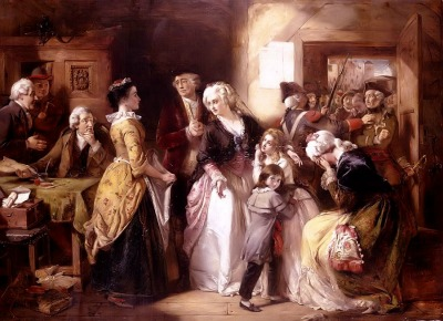 The arrest of the Royal family in Varennes