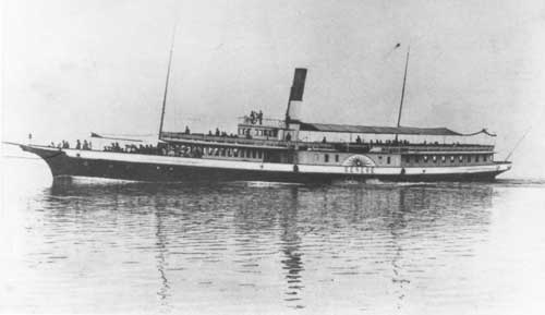 The MS Genève, on which Empress Elisabeth died. A Paddle steamer on lake Geneva, still afloat and used as a restaurant during the summer months