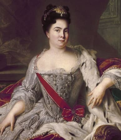 Catherine I reigns Russia for two years until her death in 1727