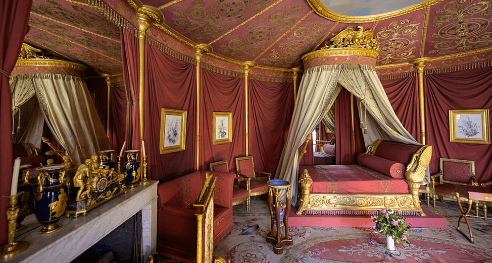 Tent-like bedroom of Josephine at the Château de Malmaison