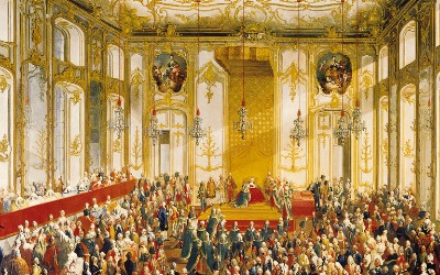 Court Banquet in the Great Antechamber of the Hofburg Palace