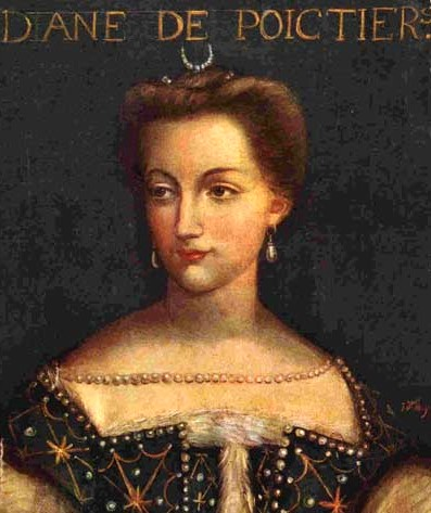 Diane the Poitiers was banned from court when King Henry was still at his dead bed. His wife Queen Catherine de' Medici could not wait to get rid of her.