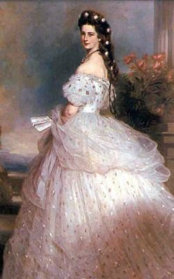 The most famous painting of Empress Elisabeth of Austria, by Winterhalter