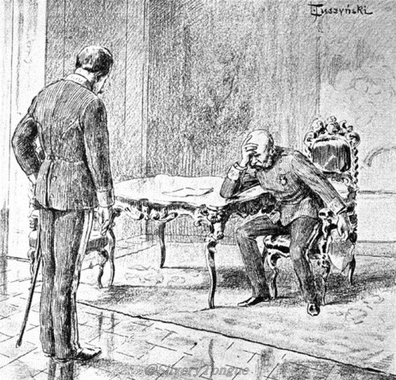General Count Paar, the Emperors adjudant, deliveres the news to Franz-Joseph, that Empress Elisabeth has died.