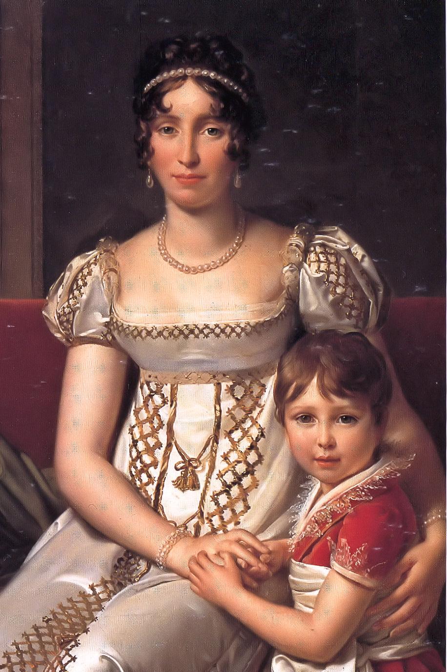 Hortense de Beauharnais with her son Napoleon Charles Bonaparte