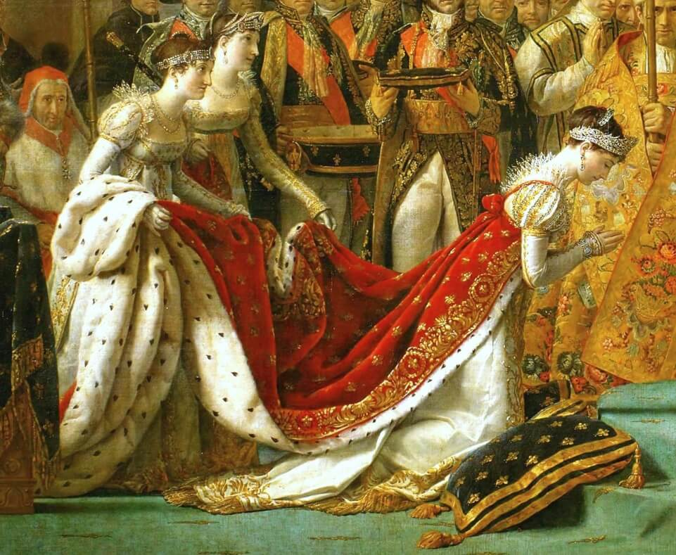 The Coronation of Napoleon by Jacques Louis David actually shows the coronation of Empress Josephine.