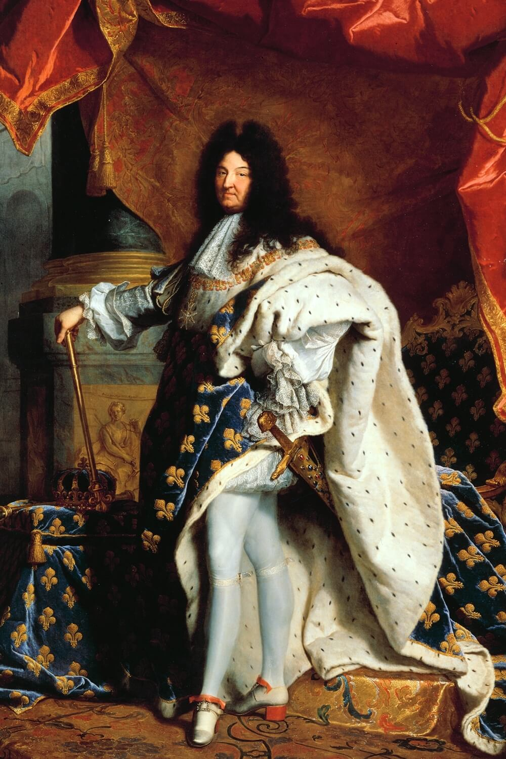 King Louis XIV at age 68 by Hyacinthe Rigaud (1701)