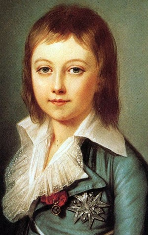 Louis Charles, dauphin of France. Son of Marie Antoinette