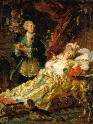 Louis XV and Madame du barry' by Gyula Benczú
