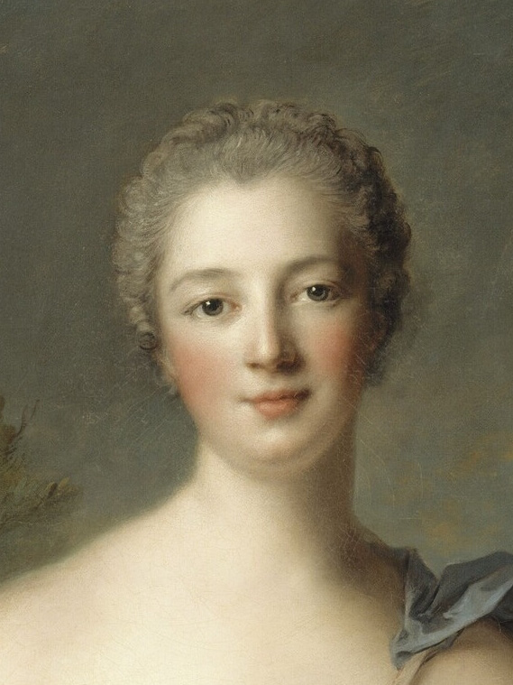 Madame de Pompadour (1722–1764), mistress of Louis XV, represented as Diana the Huntress, by Jean-Marc Nattier