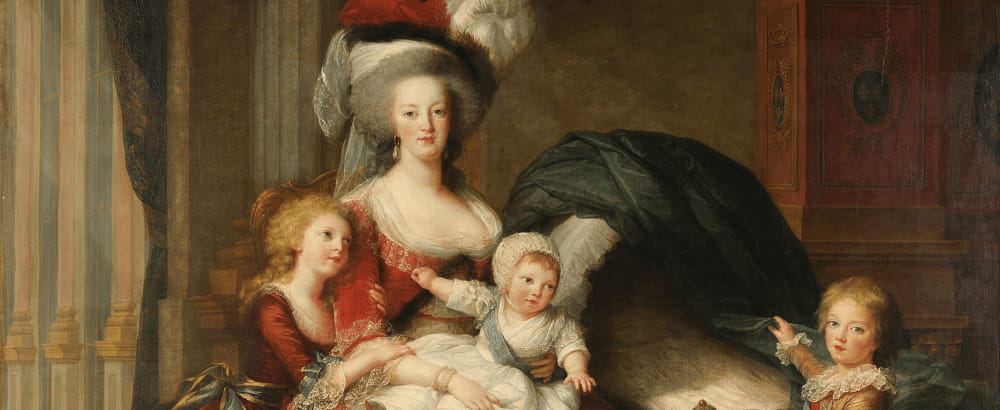 Marie-Antoinette with 3 of her children Marie-Thérèse, Louis-Charles and Louis-Joseph