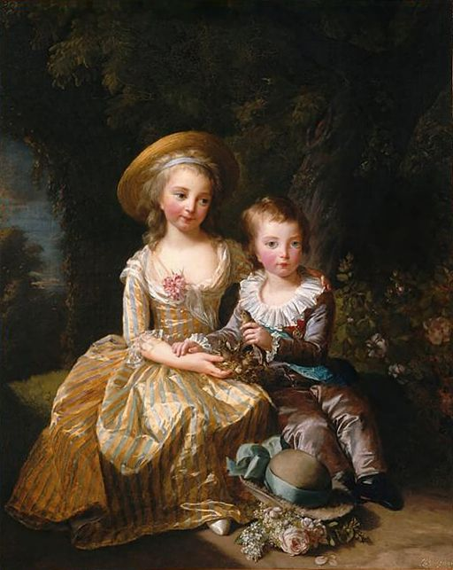The eldest children of Louis XVI and Marie Antoinette; Princess Marie Thérèse and Louis Joseph Xavier of France, Dauphin of France