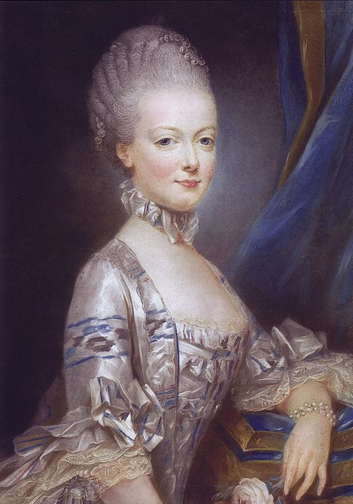 Marie Antoinette at age 14, painted by   Joseph Ducreux  in 1769