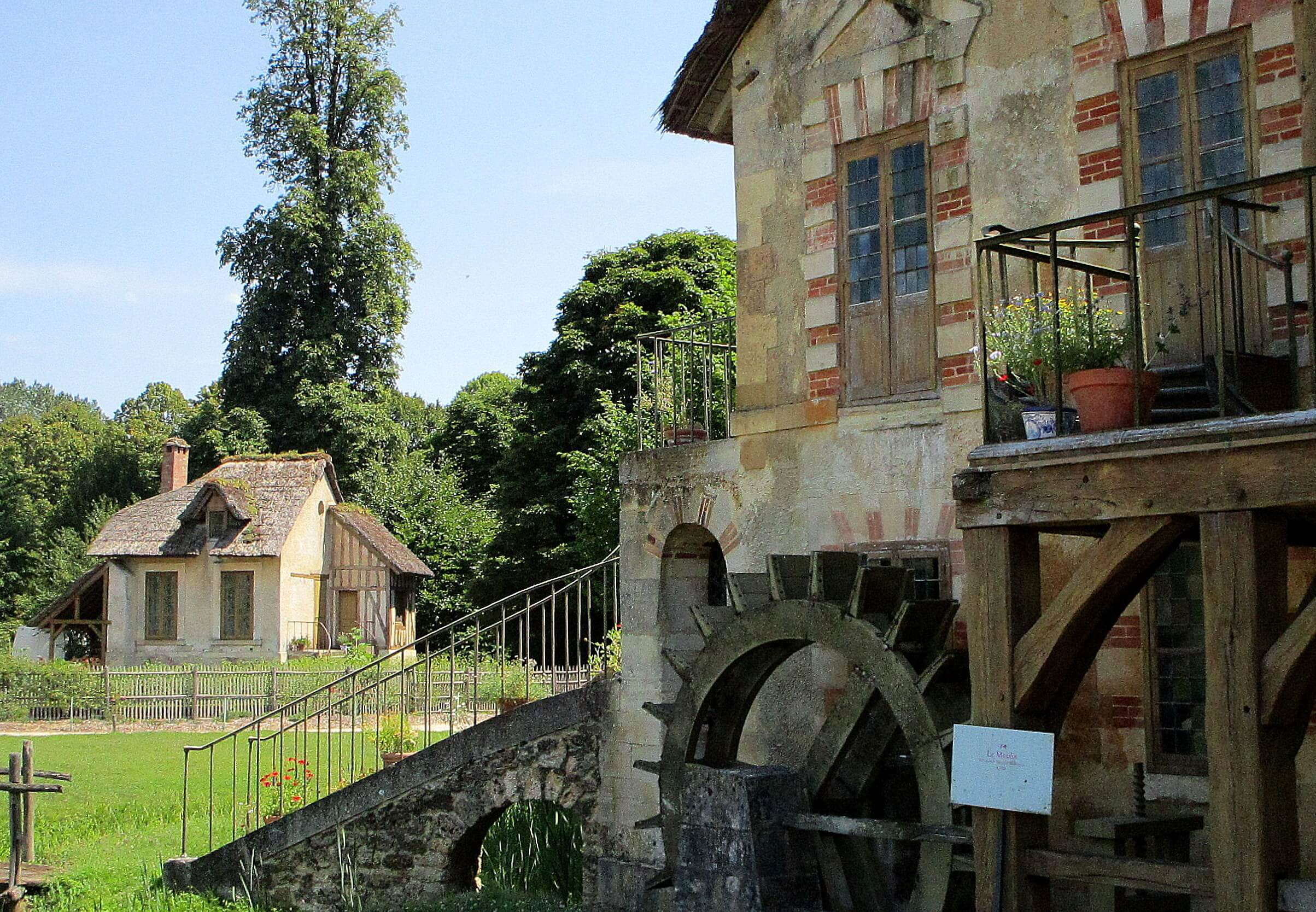 The Queen's hamlet, watermill on Marie Antoinette's Estate