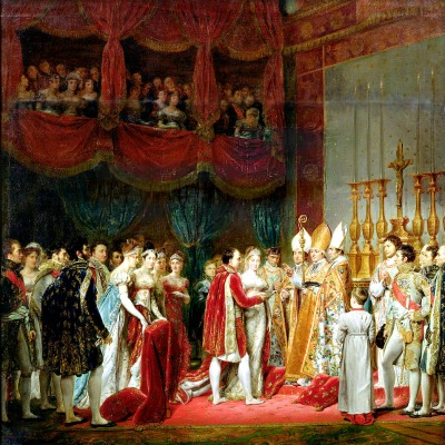 Painting by Georges Rouget of the marriage ceremony of Napoleon with Marie Louise of Austria in the Louvre chapel, 2 April 1810.
