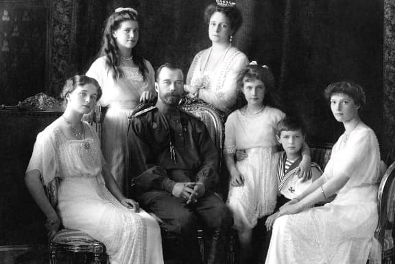 Nicholas II of Russia with his family in 1913