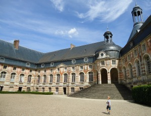Saint Fargeau Castle Courtyard