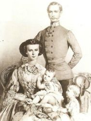Sisi, Franz Joseph, Sophie and Gisela in 1856