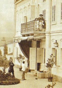 Sisi on the Balcony of the Kaiservilla