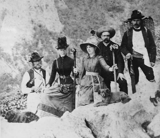 Empress Elisabeth hiking in the mountains
