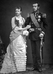 Crown Prince Rudolf of Austria-Hungary with Princess Stéphanie of Belgium