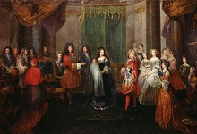 The birth of the Duke of Burgundy at Versailles Palace in 1682