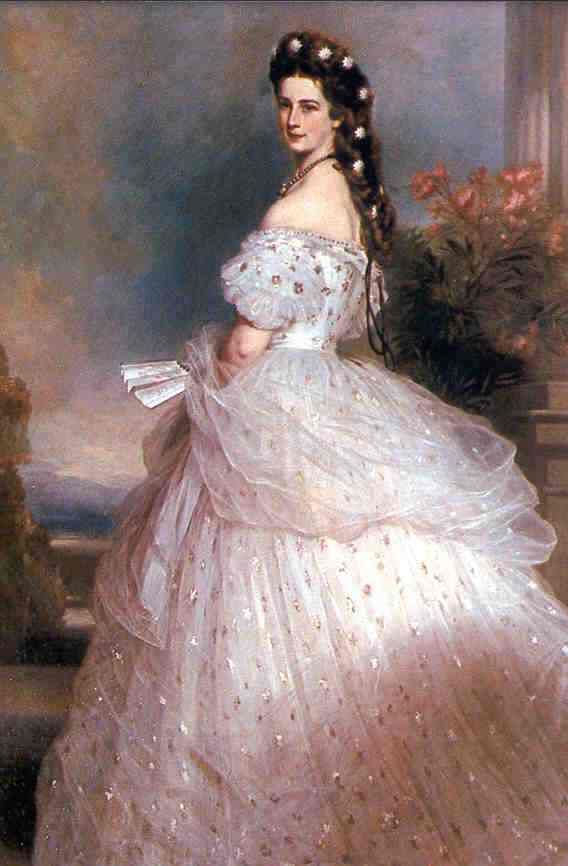 Elisabeth in 1865, by Winterhalter
