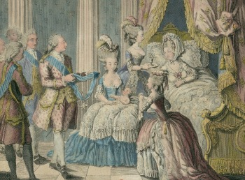 Birth of Louis Xavier Francois, Daupin of France, the first son of Marie Antoinette