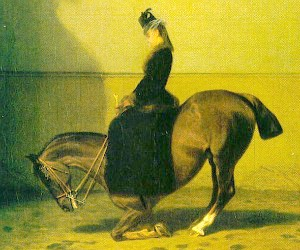 Empress Elisabeth on horseback at the Vienna Spanish Riding School