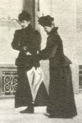 Elisabeth and Countess Irma Sztaray at Territet, Switzerland, a  week before she is the empress is assasinated