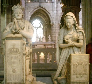 Funerary monument of Marie Antoinette and Louis XVI at the basilica of Saint-Denis
