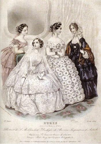 Wedding dress Empress Elisabeth according to the