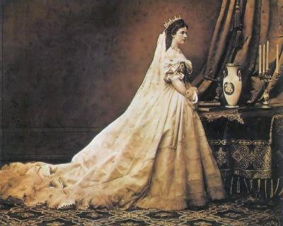 Sisi's Hungarian coronation dress, Photograph by Emil Rabending