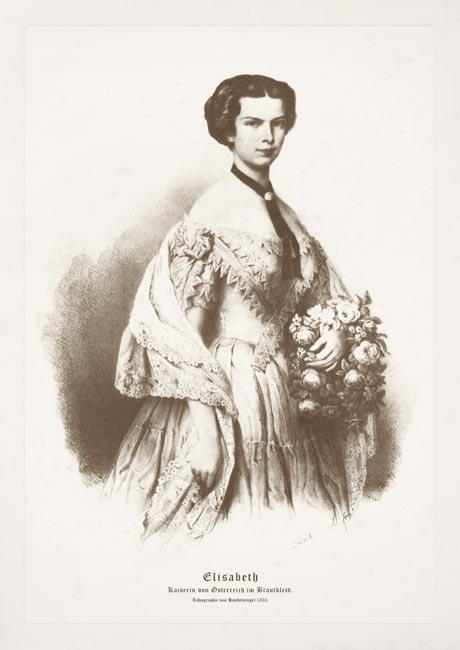 """Postcard """"Elisabeth, Kaiserin von Osterreich im Brautkleid"""""""