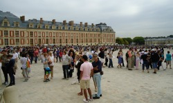 The courtyard of the Palace of Versailles