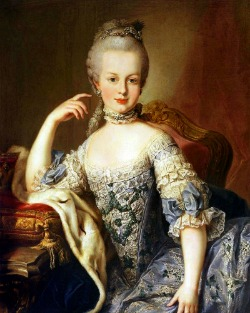 Archduchess Maria Antonia at the age of 12, painted by Martin van Meytens in 1767.
